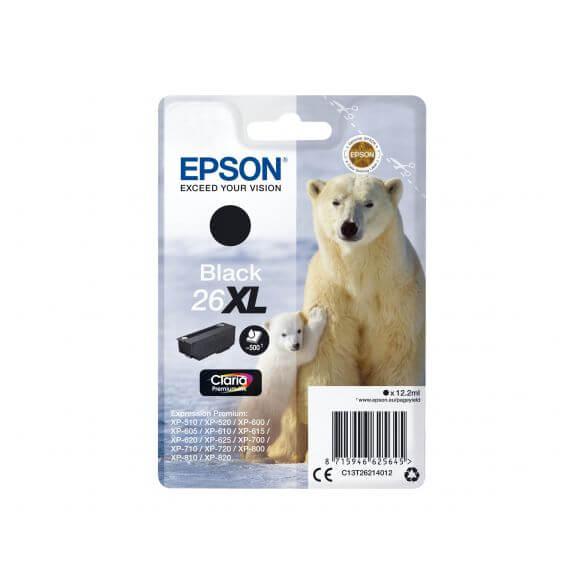 Consommable Epson 26XL - XL - noir - originale - cartouche d'encre