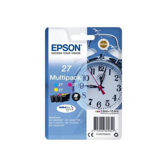 Consommable Epson 27 Multi-Pack - pack de 3 - jaune, cyan, magenta - originale - cartouche