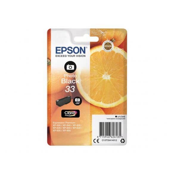 Consommable Epson 33 - photo noire - originale - cartouche d'encre