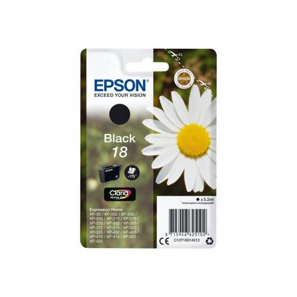 Consommable Epson 18 - noir - originale - cartouche d'encre
