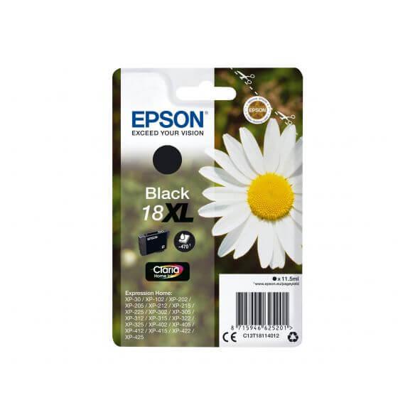Consommable Epson 18XL - XL - noir - originale - cartouche d'encre