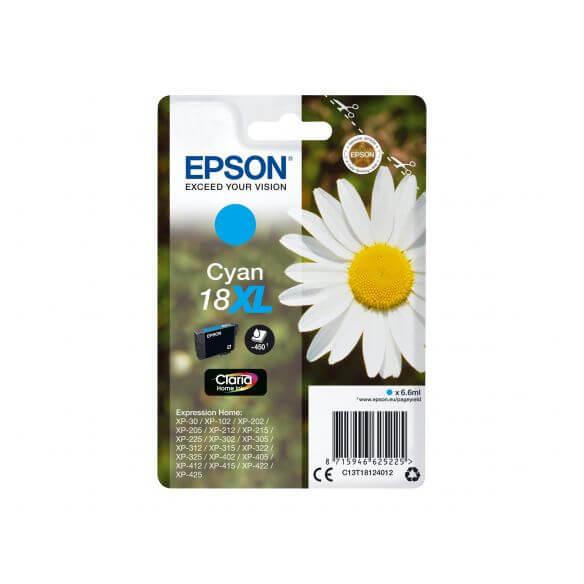 Consommable Epson 18XL - XL - cyan - originale - cartouche d'encre