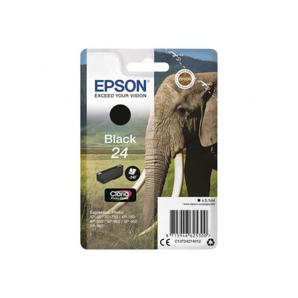 Consommable Epson 24 - noir - originale - cartouche d'encre