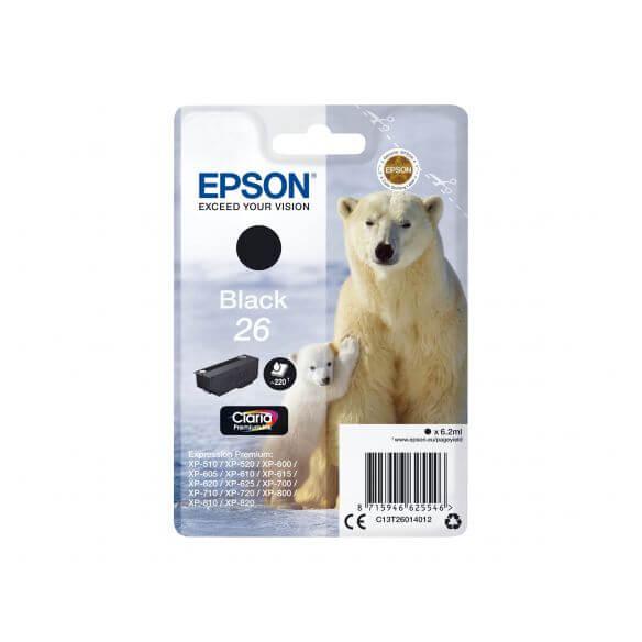Consommable Epson 26 - noir - originale - cartouche d'encre