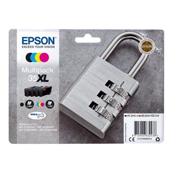 Consommable Epson 35XL Multipack - pack de 4 - XL - noir, jaune, cyan, magenta - originale