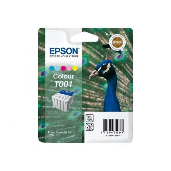 Consommable Epson T001 - couleur (cyan, magenta, jaune, cyan clair, magenta clair) - origi