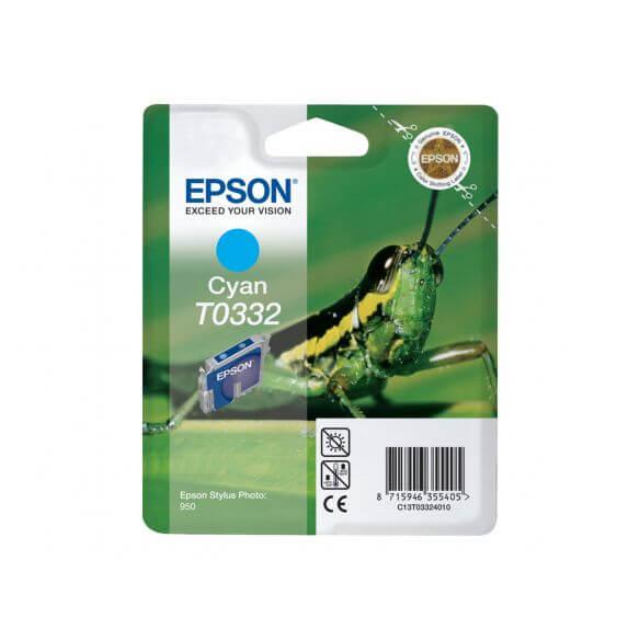 Consommable Epson T0332 - cyan - originale - cartouche d'encre