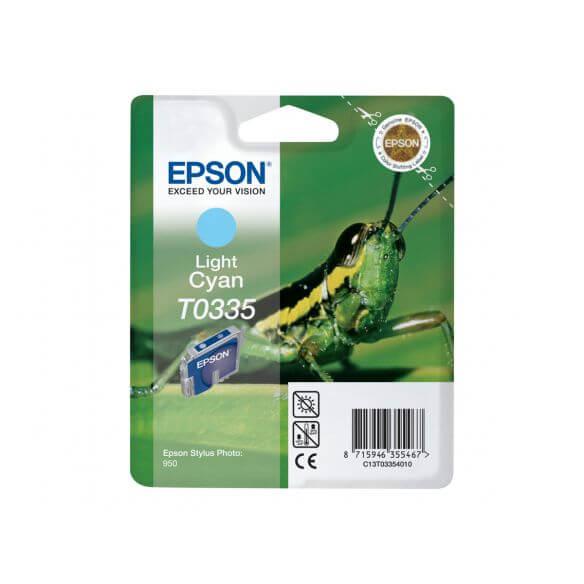 Consommable Epson T0335 - cyan clair - originale - cartouche d'encre