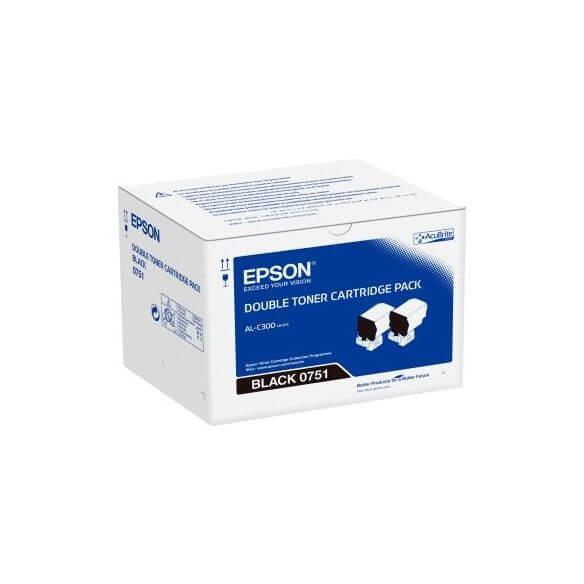 Epson - pack de 2 - noir - originale - cartouche de toner (photo)