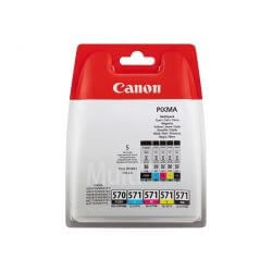 Canon PGI-570/CLI-571 PGBK/BK/C/M/Y Multi Pack - pack de 5 - noir, jaune, cyan, magenta - originale - réservoir d'encre