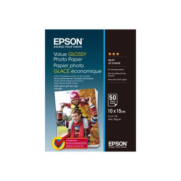 Epson Value - papier photo - 50 feuille(s) - 100 x 150 mm - 183 g/m² d'origine