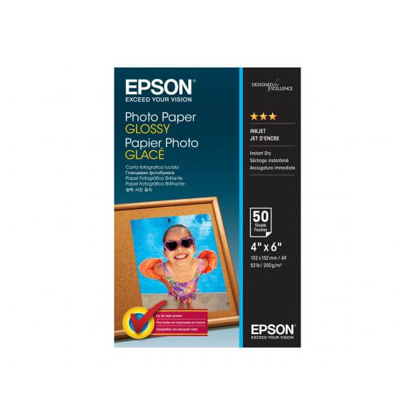 Consommable Epson - papier photo - 50 feuille(s) - 102 x 152 mm - 200 g/m²