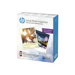 HP Social Media Snapshots - papier photo - 25 feuille(s) - 100 x 130 mm - 265 g/m²