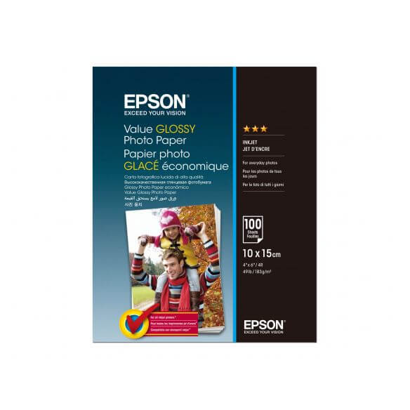 Consommable Epson Value - papier photo - 100 feuille(s) - 100 x 150 mm - 183 g/m²