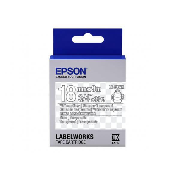 Imprimante Epson LabelWorks LK-5TWN - bande d'étiquettes - 1 rouleau(x) - Rouleau (1,8 cm