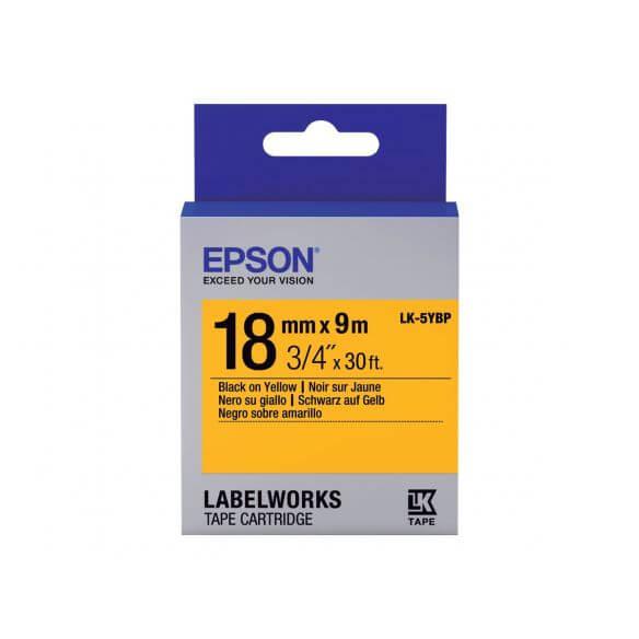 Imprimante Epson LabelWorks LK-5YBP - bande d'étiquettes - 1 rouleau(x) - Rouleau (1,8 cm