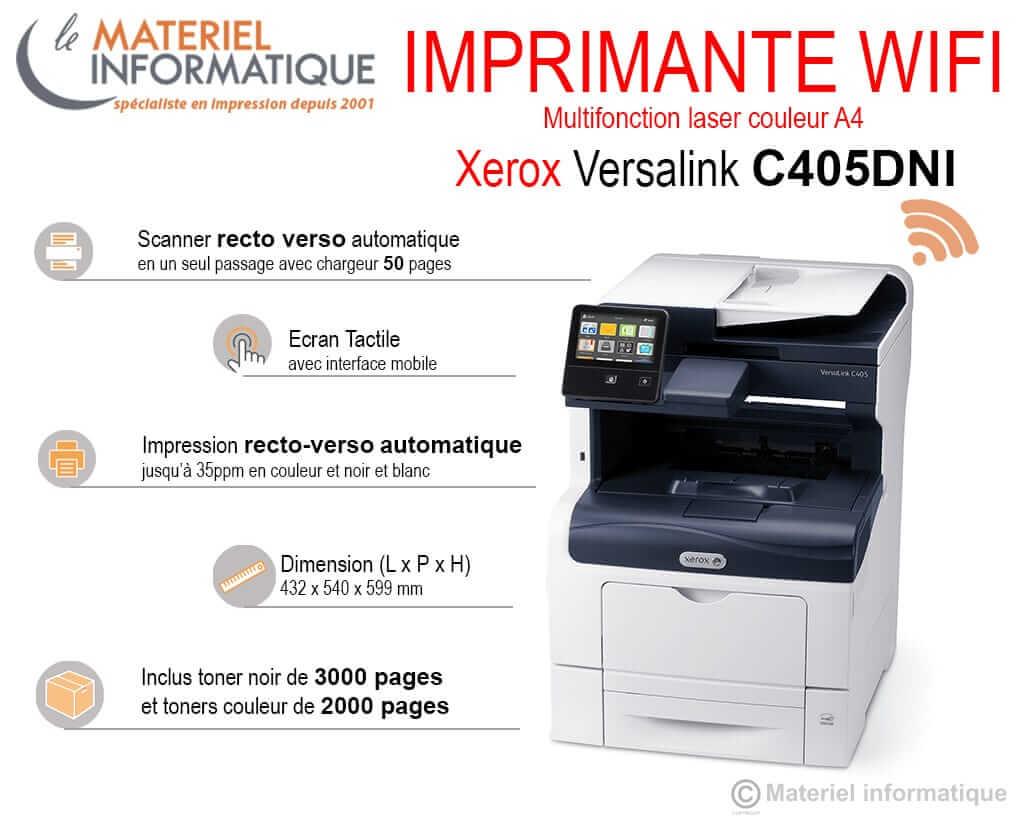 imprimante Wifi Xerox Versalink C405
