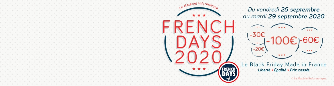 French Days 2020 - Le Black Friday Made in France de Matériel Informatique